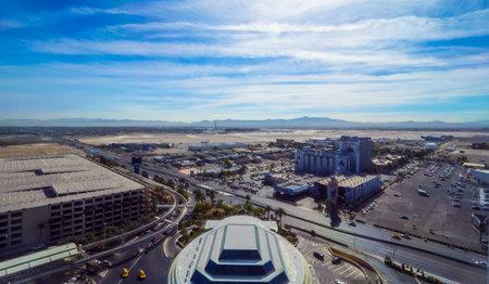 McCarran Airport Las Vegas - aerial view - LAS VEGAS - NEVADA - OCTOBER 12, 2017 Editorial