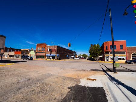 Het prachtige centrum van Stroud - een klein stadje in Oklahoma - STROUD - OKLAHOMA - OKTOBER 16, 2017