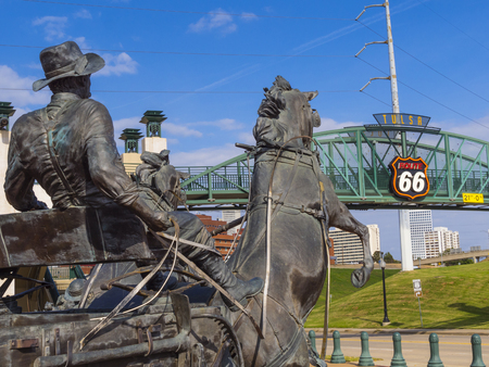 Cyrus Avery Centennial Plaza in Tulsa - TULSA - OKLAHOMA - OCTOBER 17, 2017 Editorial