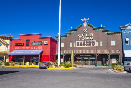 Gold Town Casino and historic western style city of Pahrump Nevada - PAHRUMP - NEVADA - OCTOBER 23, 2017
