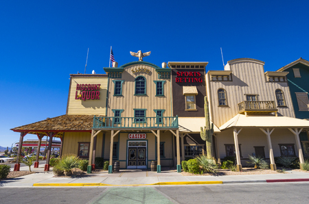 Histroic saloon building and casino in Pahrump Nevada - PAHRUMP - NEVADA - OCTOBER 23, 2017 Editorial