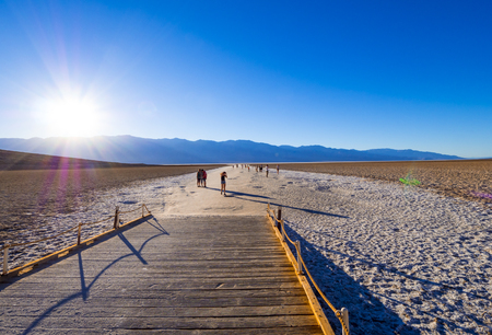 Beautiful scenery at Death Valley National Park California - Badwater salt lake - DEATH VALLEY - CALIFORNIA - OCTOBER 23, 2017