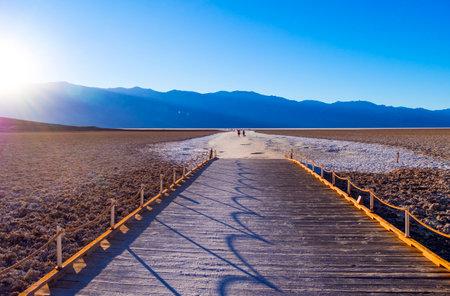 Badwater Salt lake at Death Valley California - DEATH VALLEY - CALIFORNIA - OCTOBER 23, 2017 Editorial