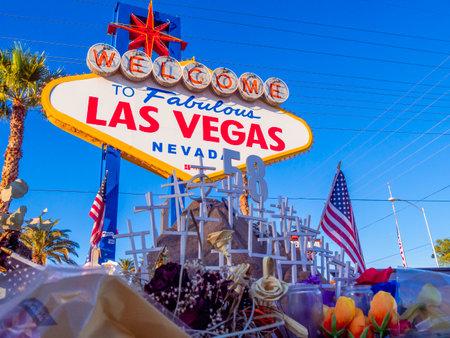 Las Vegas after terror attack - expression of condolences - LAS VEGAS - NEVADA - OCTOBER 12, 2017