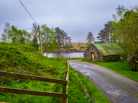 Typical Irish landscape in Beara Peninsula Banco de Imagens