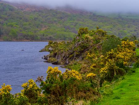 Wonderful lake at Gleninchaquin Park in Ireland Stock Photo