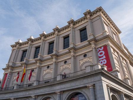 Opera Madrid - The National Theater called Teatro Nacional - MADRID  SPAIN - FEBRUAR 21, 2018