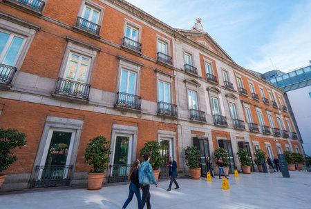 Famous museum Thyssen Bornemisza in Madrid - MADRID / SPAIN - FEBRUAR 21, 2018