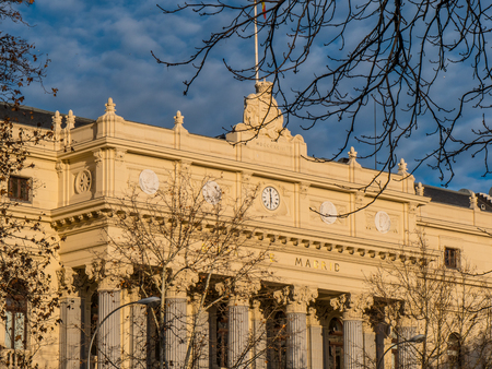 Madrid Stock Exchange building called Bolsa de Madrid - MADRID  SPAIN - FEBRUAR 21, 2018