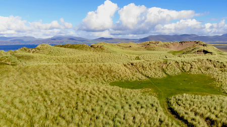 Low Aerial view over the dunes at the west coast of Ireland Reklamní fotografie