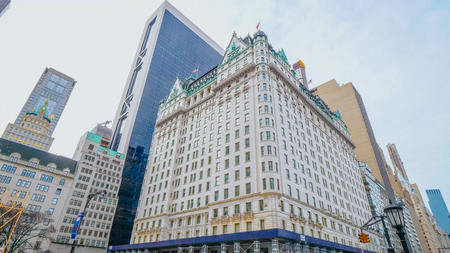 Famous Plaza Hotel in New York - NEW YORK, USA - DECEMBER 4, 2018