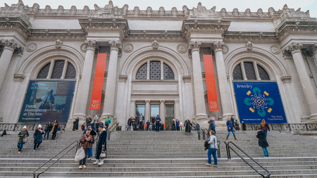 The Met in New York Metropolitan Museum in Manhattan - NEW YORK Editorial