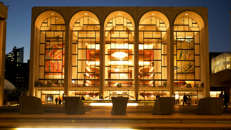 Metropolitan Opera called MET at Lincoln Center in Manhattan - N