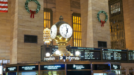New York Grand Central Station - NEW YORK, UNITED STATES - DECEMBER 4, 2018 Редакционное