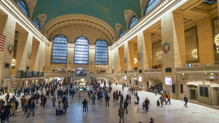 Main lobby of Grand Central Station New York - NEW YORK, USA - Редакционное