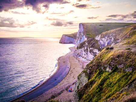 The White Cliffs of England at sunset