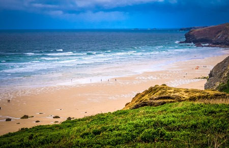 The beautiful sandy beaches in Cornwall England