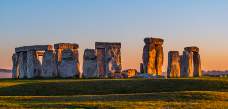 World famous rocks of Stonehenge in England