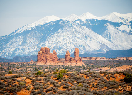 Amazing Scenery at Arches National Park in Utah - travel photography Stock Photo