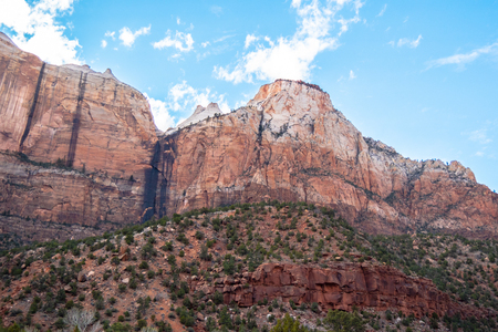 Beautiful mountains at Zion National Park in Utah