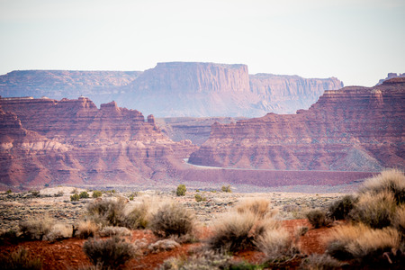 Red mountains at Canyonlands National Park - travel photography