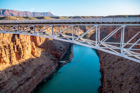Navajo Bridge over Colorado River in Arizona 版權商用圖片