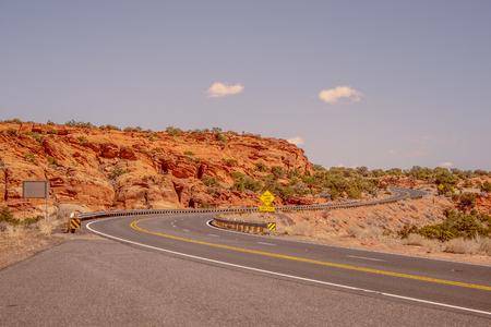 Road through the desert of Arizona