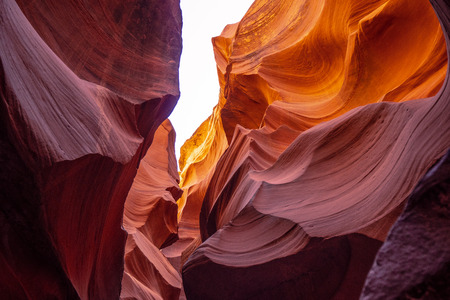 Curved sandstone formations at Antelope Canyon
