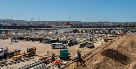 New Mexican Border construction site in San Ysidro - CALIFORNIA, USA - MARCH 18, 2019