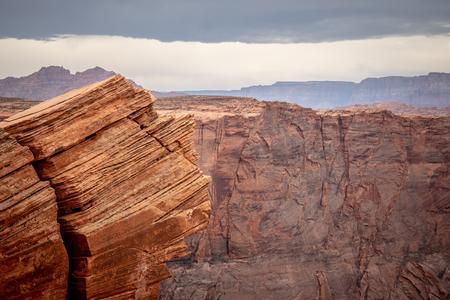 Rocky landscape at Horseshoe Bend in Arizona Stock Photo