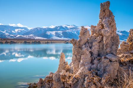 Tufa towers columns of limestone at Mono Lake Stockfoto