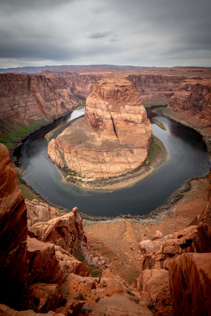 Wide angle view over Horseshoe Bend in Arizona