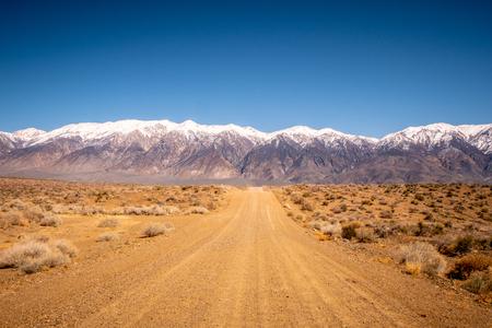Unpaved road through the Sierra Nevada Stock Photo