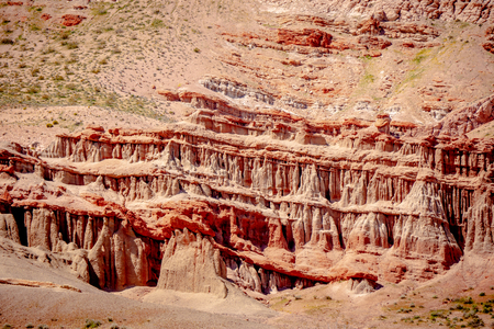 Red Rock Canyon State Park in California Фото со стока