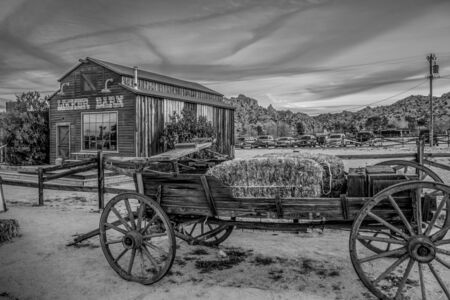 Famous Pioneertown in California in the evening - CALIFORNIA, USA - MARCH 18, 2019