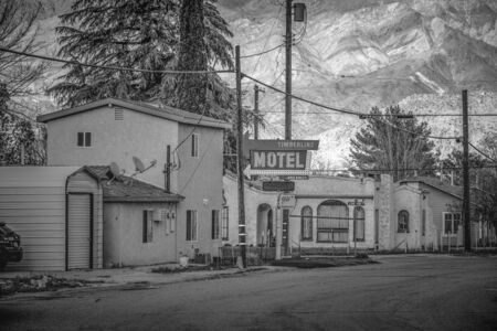 Timberline Motel in the historic village of Lone Pine - LONE PINE CA, USA - MARCH 29, 2019 Editorial
