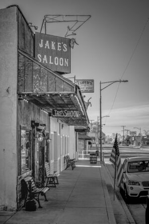 Jakes Western Saloon in the historic village of Lone Pine - LONE PINE CA, USA - MARCH 29, 2019