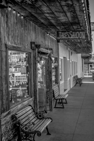 Jakes Wild West Saloon in the historic village of Lone Pine - LONE PINE CA, USA - MARCH 29, 2019
