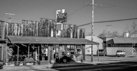 Mexican American restaurant in the historic village of Lone Pine - LONE PINE CA, USA - MARCH 29, 2019
