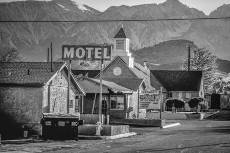 Motel in the historic village of Lone Pine - LONE PINE CA, USA - MARCH 29, 2019
