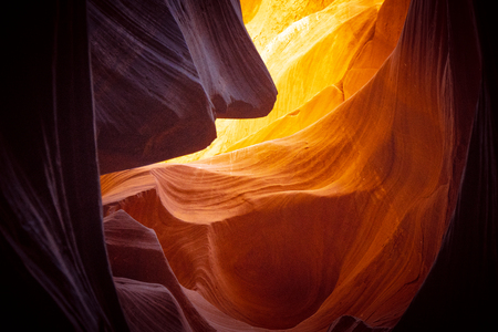Wonderful colors of the Upper Antelope Canyon - travel photography 스톡 콘텐츠