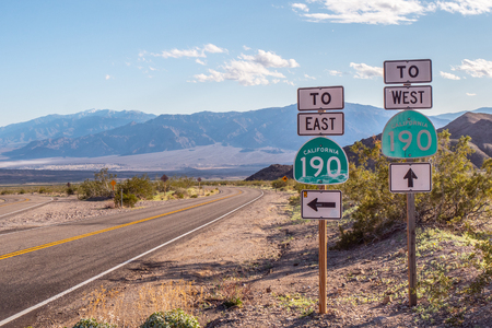 Scenic road through Death Valley National Park - travel photography
