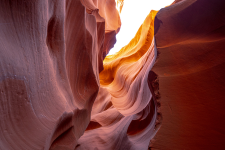 Antelope Canyon - amazing colors of the sandstone rocks - travel photography 스톡 콘텐츠