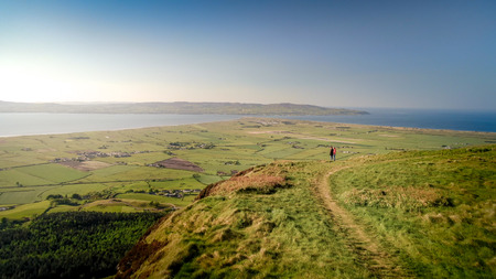 Ireland drone footage - Binevenagh in North Ireland - travel photography