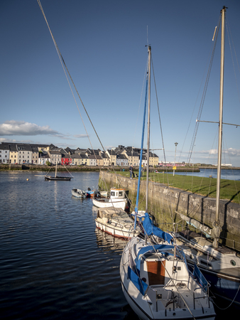 Boats in the harbor of Galway Claddagh - travel photography