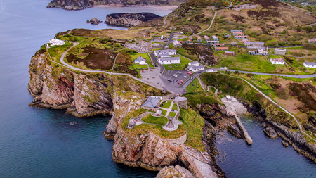 Aerial view over Fort Dunree in Ireland - travel photography Stock Photo