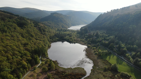 The lakes at Glendalough in the Wicklow mountains of Ireland - travel photography