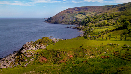 Flight over Murlough Bay in North Ireland - a beautiful landmark - travel photography