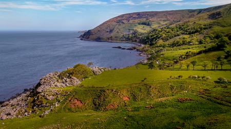 Flight over Murlough Bay in North Ireland - a beautiful landmark - travel photography Reklamní fotografie