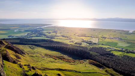 Wonderful landscape of Binenenagh in North Ireland - travel photography